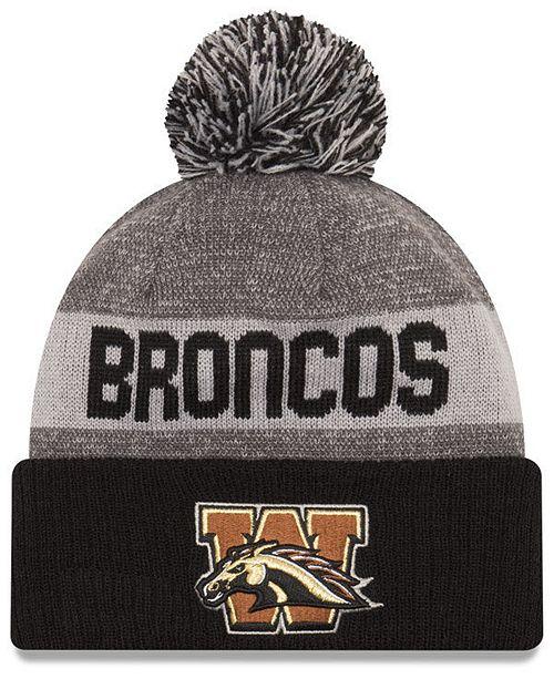 100% authentic a19a4 8e6e7 ... New Era Western Michigan Broncos Sport Knit Hat ...