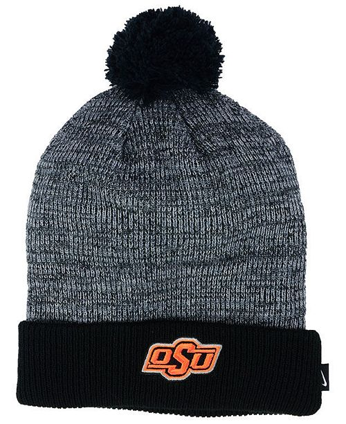 Nike Oklahoma State Cowboys Heather Pom Knit Hat - Sports Fan Shop ... 648e40e1b