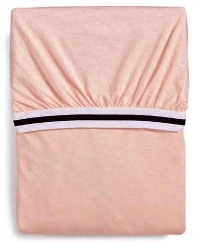 Calvin Klein Modern Cotton Harrison Pink Queen Fitted Sheet