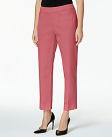 Charter Club Petite Tummy-Control Slim-Leg Pants, Created for Macy's