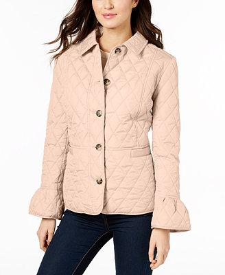 Petite Bell Sleeve Quilted Jacket, Created For Macy's by Charter Club