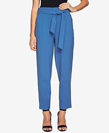 Sash-Belted Ankle Pants