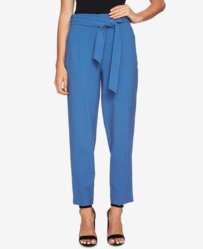 1.STATE Sash-Belted Ankle Pants