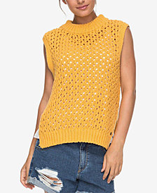 Roxy Juniors' Open-Knit Sleeveless Sweater
