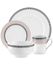 Vintage Chic 16-Piece Dinnerware Set, Service for 4