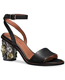 COACH Cylinder-Heel Dress Sandals