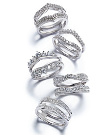 Diamond Enhancer Ring Guard Collection in 14k White Gold