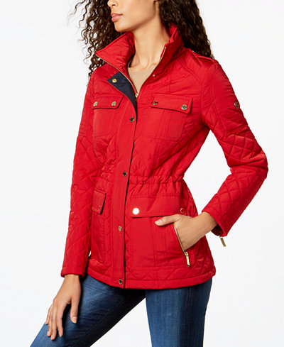Michael Michael Kors Hooded Quilted Anorak Coats Women Macys