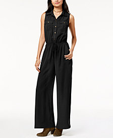Be Bop Juniors' Utility Wide-Leg Jumpsuit