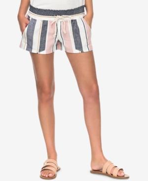 Roxy Juniors Oceanside Striped Soft Shorts