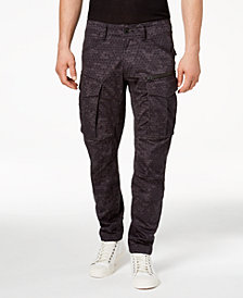 G-Star RAW Men's Honeycomb Printed Rovic Tapered Fit Cargo Jeans