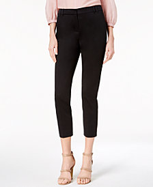Marella Cotton Sateen Stretch Capri Pants