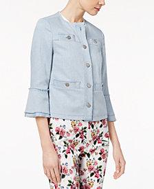 Marella Cotton Stretch Twill Bell-Sleeve Jacket