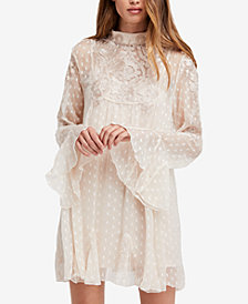 Free People Coquette Bell-Sleeve Mini Dress