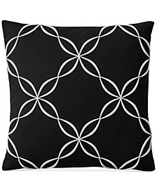 "Charter Club Damask Designs Outline Embroidered 18"" Square Decorative Pillow, Created for Macy's"