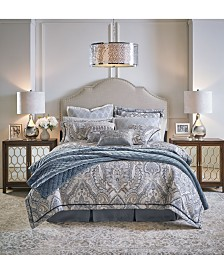Croscill Seren 4-Pc. Chenille Damask Jacquard Queen Comforter Set