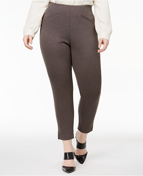 b66564ba2d0 Anne Klein Plus Size Herringbone Skinny Pants   Reviews - Pants ...
