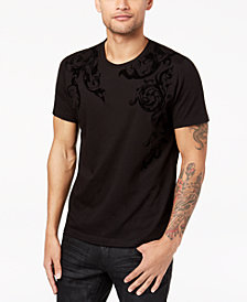 I.N.C. Men's Flocked T-Shirt, Created for Macy's