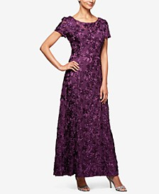 Rosette A-Line Gown