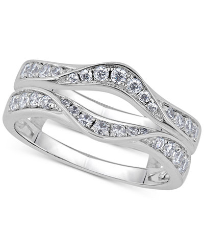 Diamond Curved Ring Guard (5/8 ct. t.w.) in 14k White Gold