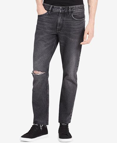 Calvin Klein Jeans Men's Elmo Slim-Fit Destroyed Jeans