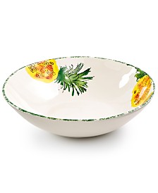 Viva by VIETRI Fresh Fruit Pineapple Shallow Serving Bowl, Created for Macy's