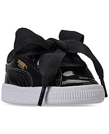 Puma Toddler Girls' Basket Heart Glam Casual Sneakers from Finish Line