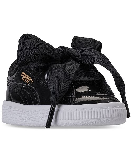 df7483855e4b Puma Toddler Girls  Basket Heart Glam Casual Sneakers from Finish ...