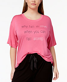 Jenni by Jennifer Moore Plus Size Graphic-Print Pajama Top, Created for Macy's