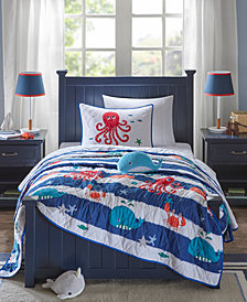 Mi Zone Kids Sealife 4-Pc. Full/Queen Coverlet Set