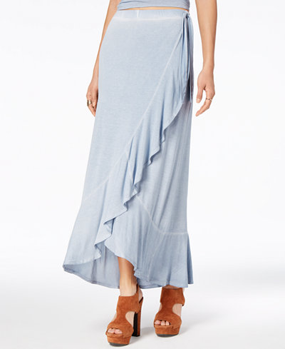 American Rag Juniors' Ruffled Wrap Skirt, Created for Macy's