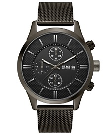 Kenneth Cole Reaction Men's Chronograph Sport Black Stainless Steel Mesh Bracelet Watch 46mm