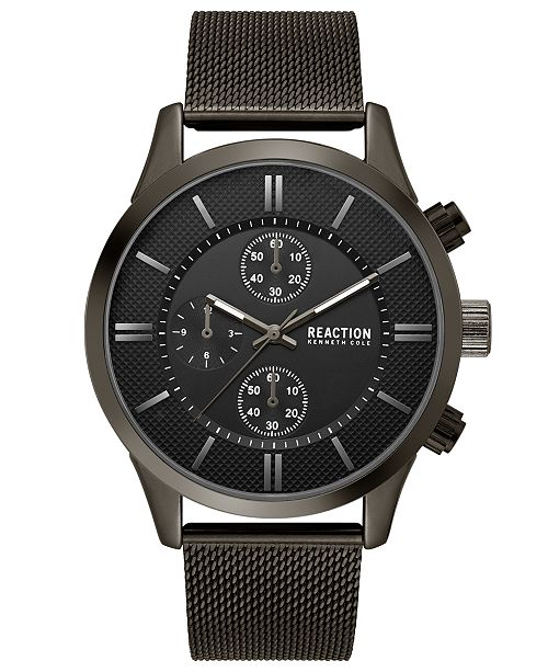 1845450b5 ... Kenneth Cole Reaction Men's Chronograph Sport Black Stainless Steel  Mesh Bracelet Watch ...