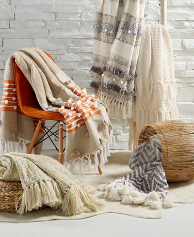 Lacourte Globetrotter Natural Throw Collection, Created for Macy's