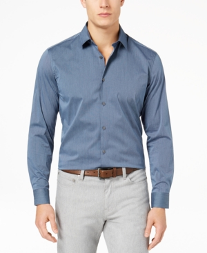 Alfani Men's Stretch Modern Stripe Shirt, Created for Macy's