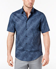 Alfani Men's Abstract Striped Shirt, Created for Macy's