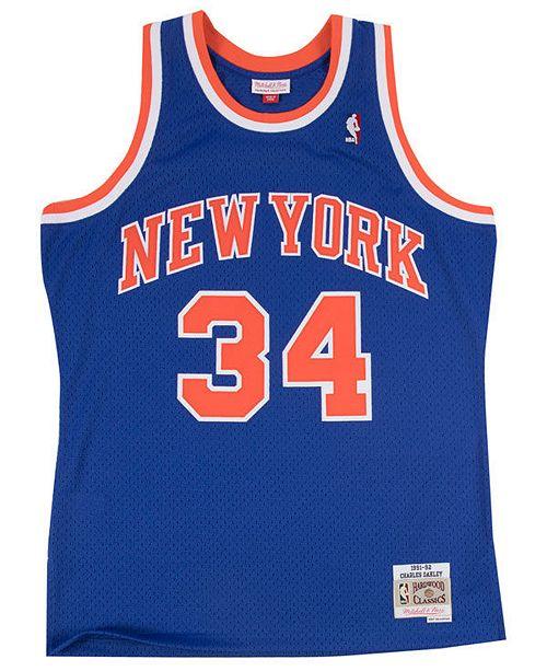 f0f5bfddeb40c1 ... Mitchell   Ness Men s Charles Oakley New York Knicks Hardwood Classic  Swingman ...