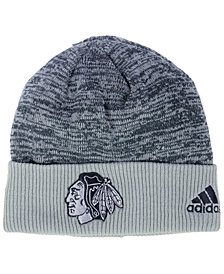 adidas Chicago Blackhawks Two Tone Knit Hat