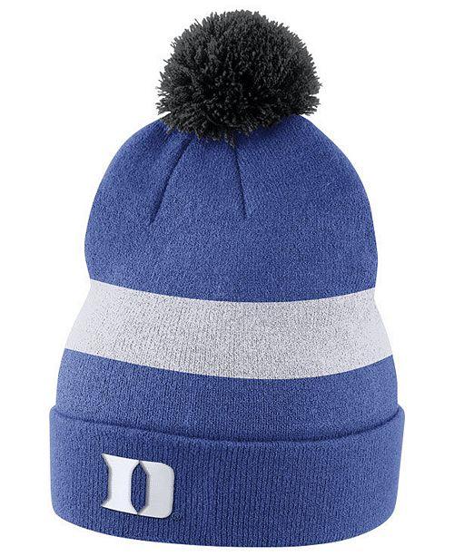 0586c6d5bbb Nike Duke Blue Devils Sideline Knit Hat   Reviews - Sports Fan Shop ...
