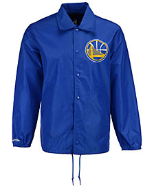 Mitchell & Ness Men's Golden State Warriors Coaches Jacket