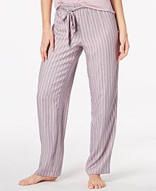 Alfani Knit Striped Pajama Pants, Created for Macy's