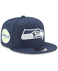New Era Seattle Seahawks Anniversary Patch 9FIFTY Snapback Cap