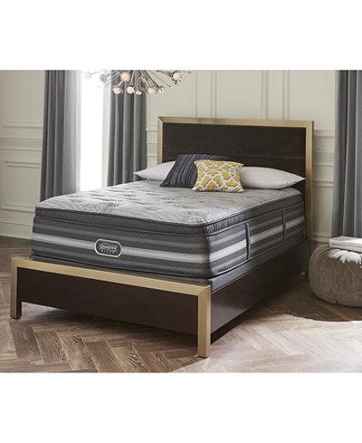 Beautyrest Black Suri 16'' Plush Pillow Top Mattress Set- Twin XL