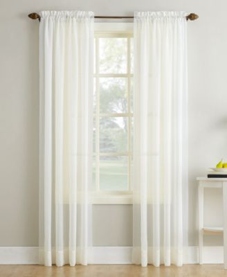 "No. 918 Crushed Sheer Voile 51"" x 95"" Rod Pocket Curtain Panel"