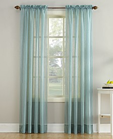 "Crushed Sheer Voile 51"" x 84"" Curtain Panel"