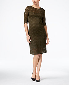 Monteau Petite Lace Bodycon Dress, Created for Macy's