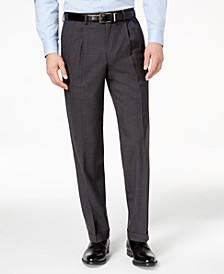 100% Wool Double-Reverse Pleated Dress Pants