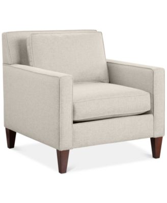 """CLOSEOUT! Kenford 34"""" Fabric Armchair, Created for Macy's"""