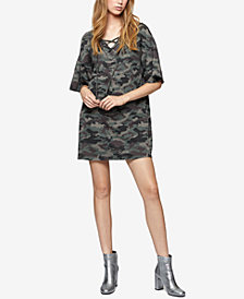 Sanctuary Cotton Camo-Print Sweatshirt Dress