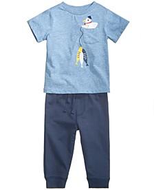 Fish-Print T-Shirt & Jogger Pants, Baby Boys, Created for Macy's
